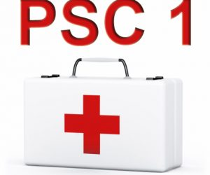 first aid pack on white background